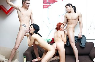 Awesome party sex scene with a nasty..