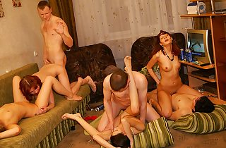 Spectacular and hot student party sex..