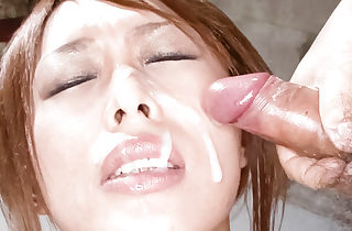Rina takes an lube shower and her..
