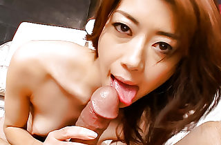 Insatiable Maki rubs up and down on a..