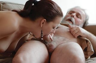 Ilona and her man are sharing a good time when..
